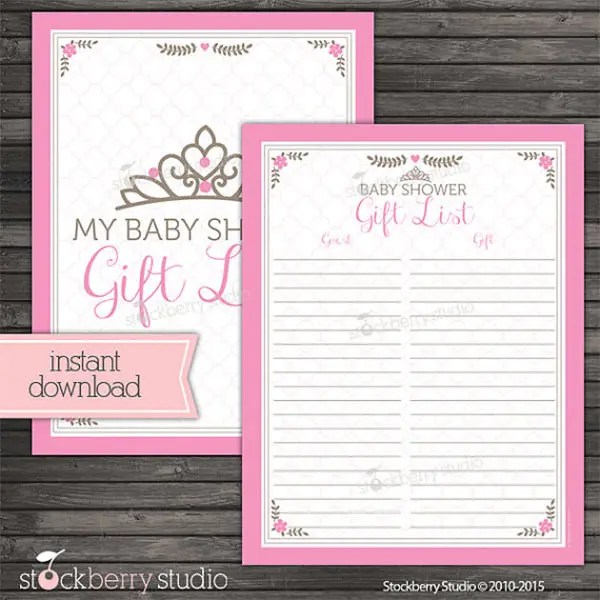 Baby Shower Guest List Template u2013 8+ Free Sample, Example, Format - party guest list template