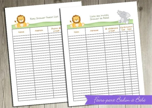 Baby Shower Guest Book Template » Baby shower personalized baby