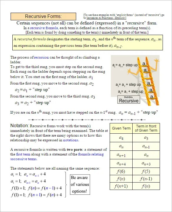 9+ Arithmetic Sequence Examples - DOC, PDF, Excel Free  Premium - geometric sequence example