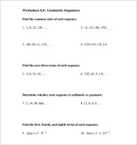 9+ Geometric Sequence Examples - DOC, Excel, PDF | Free ...