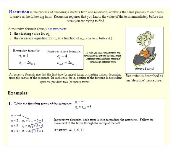 Geometric Sequence Examples \u2013 10+ Free Word, Excel, PDF Format