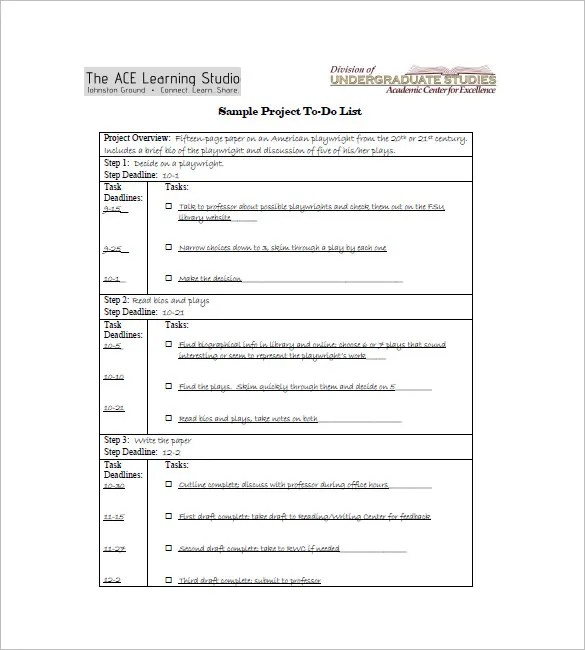 To Do List Template - 12+ Free Sample, Example, Format Download