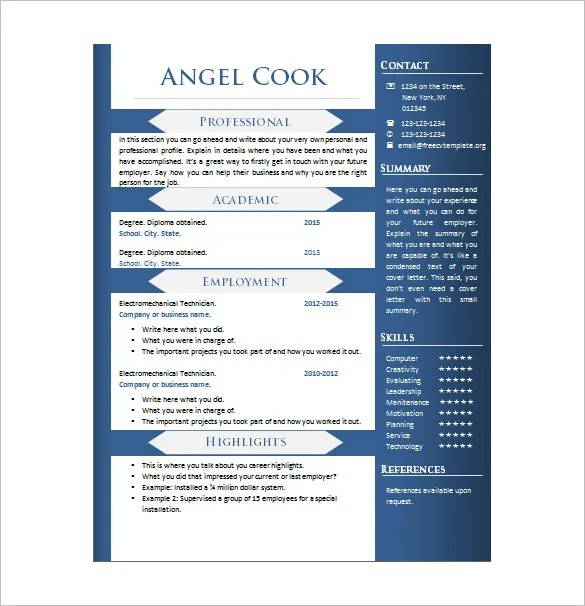 Writer Resume Template \u2013 14+ Free Word, Excel, PDF Format Download - write a resume