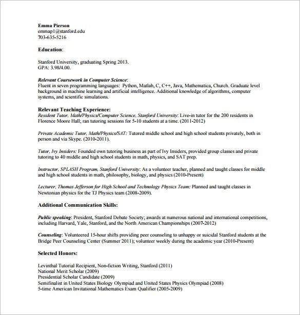 Tutor Resume Template u2013 11+ Free Word, Excel, PDF Format Download - tutor resume
