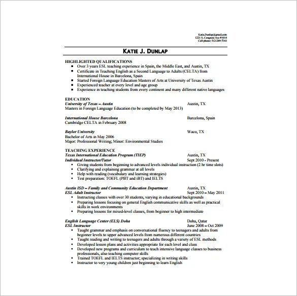 resume for tutoring - Demireagdiffusion