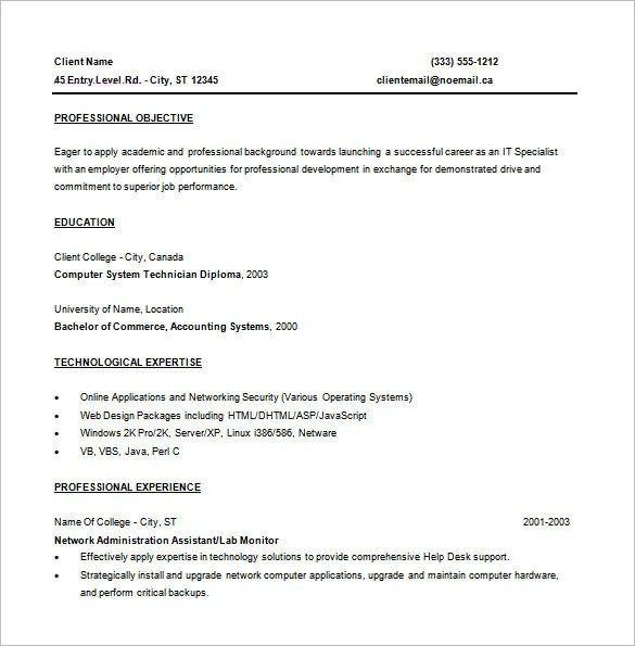 entry level programming resume sle
