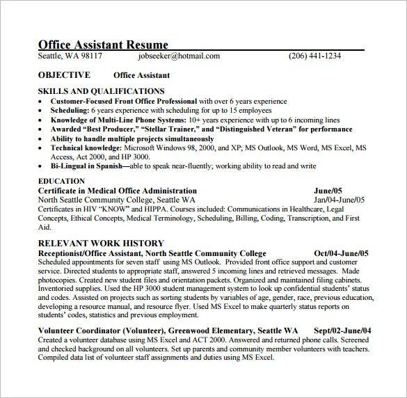 excel skills on resume example