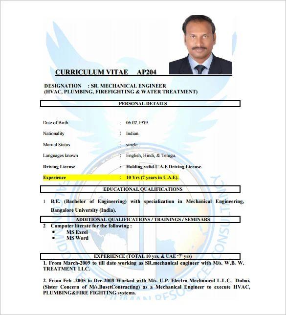 download hvac resume template