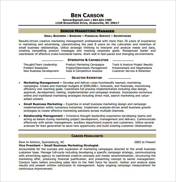 senior market research analyst resume sample