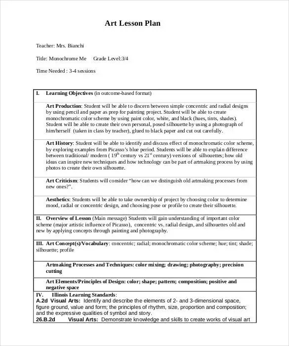 59+ Lesson Plan Templates - PDF, DOC, Excel Free  Premium Templates