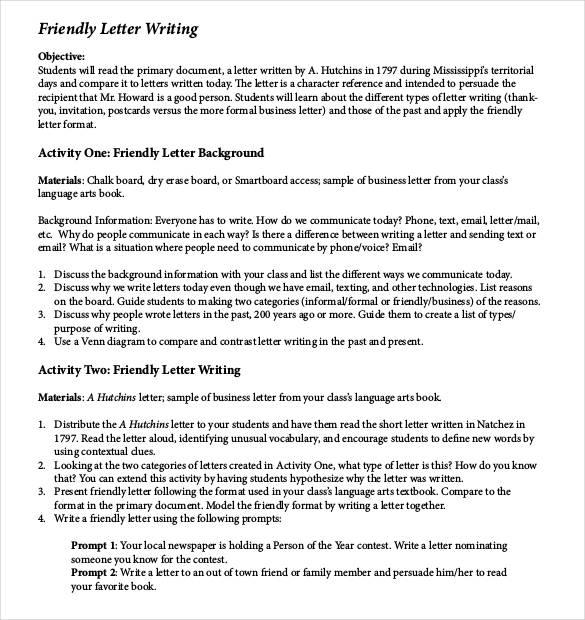 49+ Friendly Letter Templates - PDF, DOC Free  Premium Templates