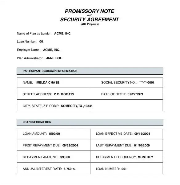 Promissory Note Template - 34+ Free Word, PDF Format Free - promissory note word template