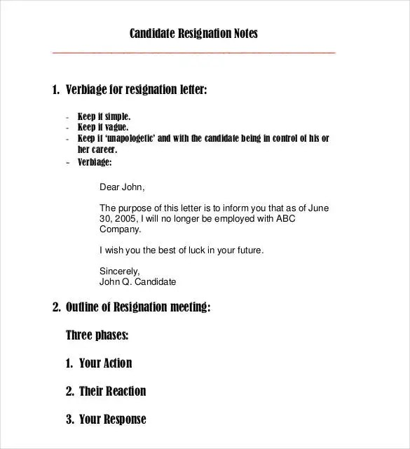 Email Resignation Letter Template - 19+ Free Sample, Example - mail letter format