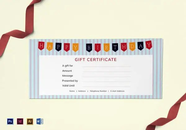 Best Gift Certificate Templates - 38+ Free Word, PDF, Photoshop - gift certifcate template