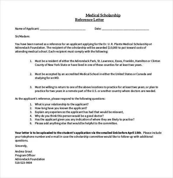 27+ Letters of Recommendation for Scholarship - PDF, DOC Free