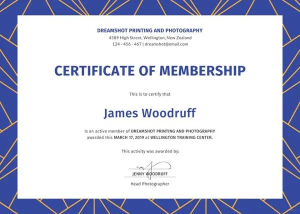 free printable membership certificate template trattorialeondoro - membership certificate template