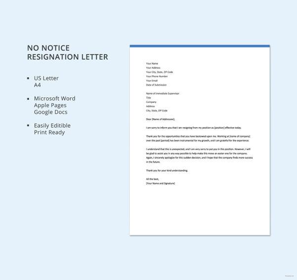 sample resignation letter format - Baskanidai - resignation letter formats