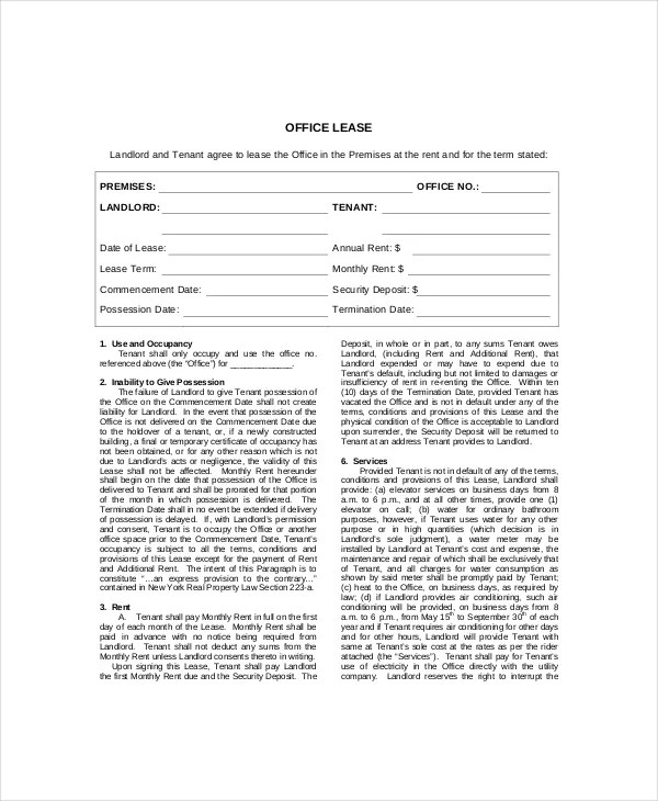 Lease Termination Template - 5+ Free Word, PDF Documents Download