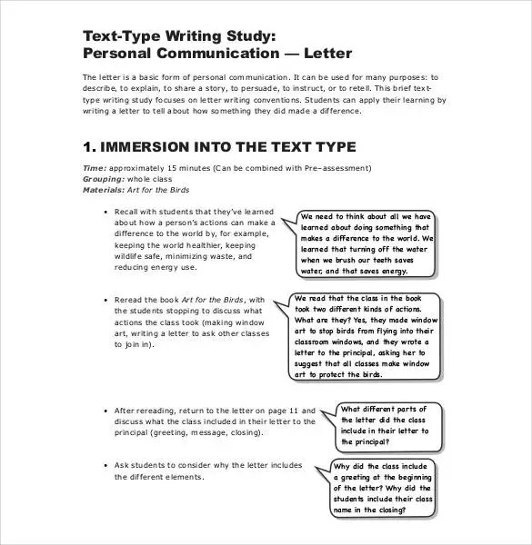 44+ Personal Letter Templates - PDF, DOC Free  Premium Templates