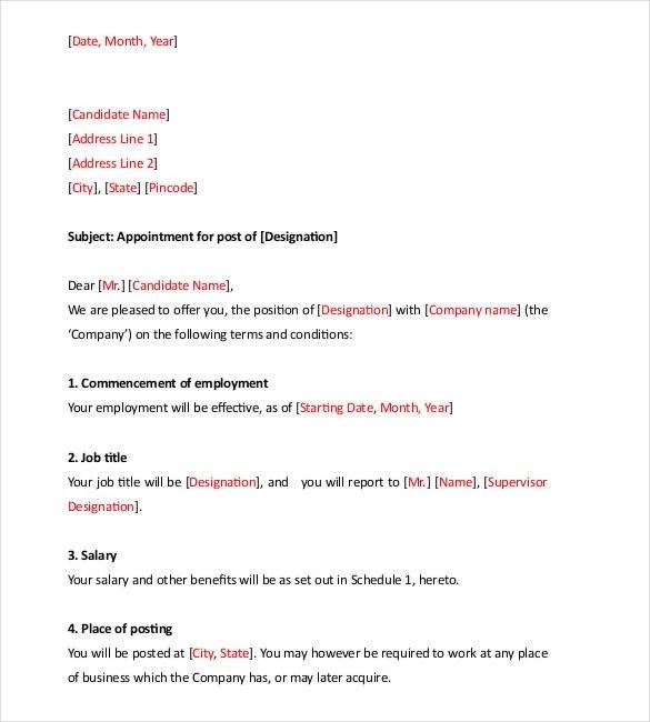 70+ Offer Letter Templates - PDF, DOC Free  Premium Templates
