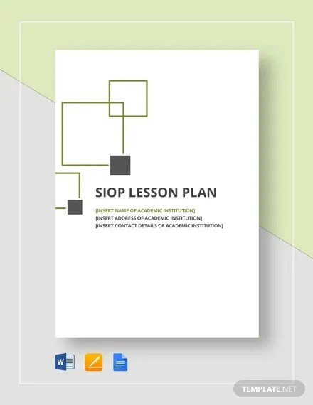 SIOP Lesson Plan Template - 9+ Free PSD, Word Format Download