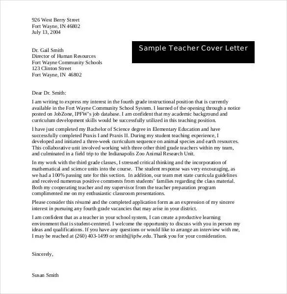 writing a cover letter australia