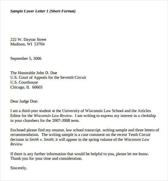sample cover letters law. Resume Example. Resume CV Cover Letter