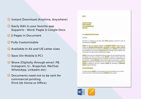 30+ Letters of Recommendation - PDF, DOC, Xlsx Free  Premium