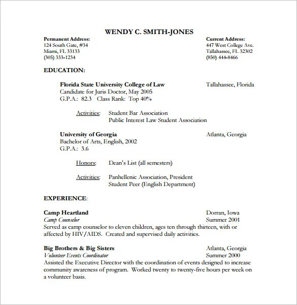 Lawyer Resume Template \u2013 10+ Free Word, Excel, PDF Format Download - Attorney Resume Template