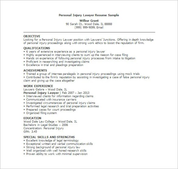 Lawyer Resume Template \u2013 10+ Free Word, Excel, PDF Format Download