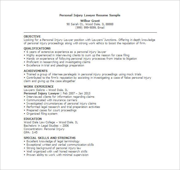 junior attorney resume sample