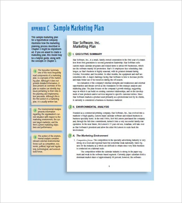 Small Business Marketing Plan Template \u2013 10+ Free Word, Excel, PDF - business synopsis template