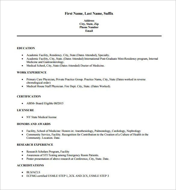 16+ Doctor Resume Templates - PDF, DOC Free  Premium Templates - Sample Of Resume Templates