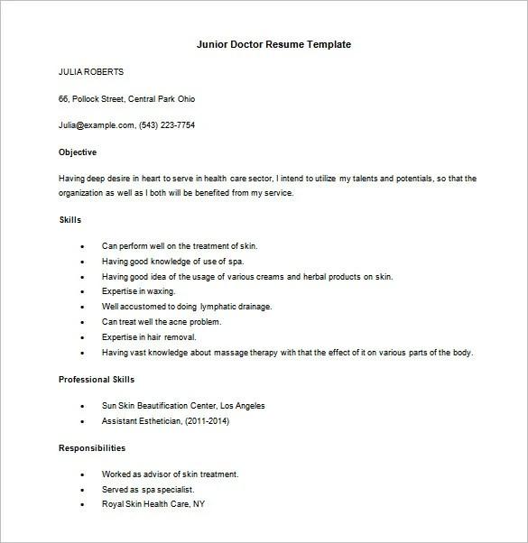 13+ Doctor Resume Templates - PDF, DOC Free  Premium Templates