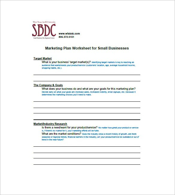 10+ Small Business Marketing Plan Templates - DOC, PDF Free