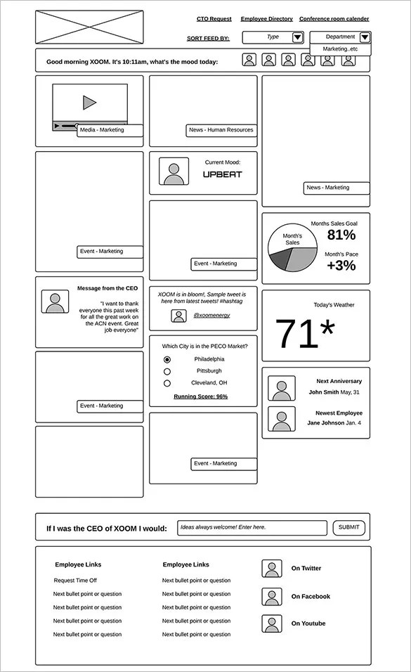 21+ Great Examples Of Wireframes Free  Premium Templates