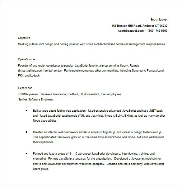 Java Developer Resume Template \u2013 11+ Free Word, Excel, PDF,PS Format - java developer resumes
