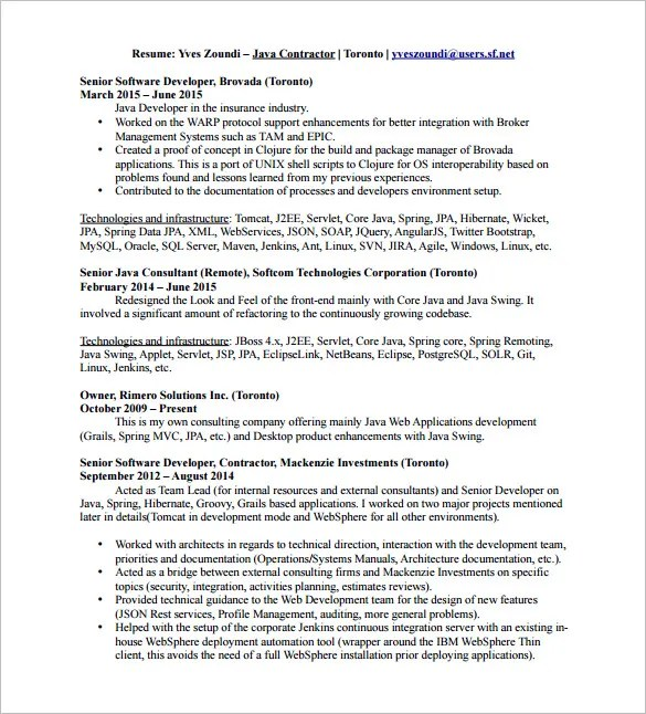 java developer resume pdf - Onwebioinnovate - java developer resumes