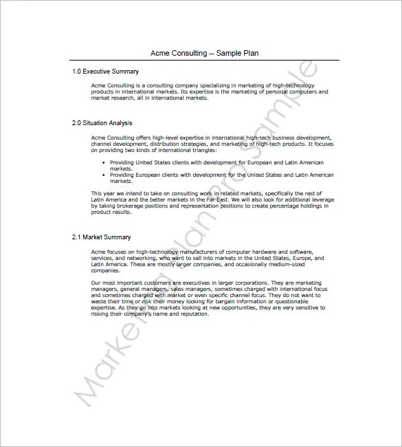 Sales and Marketing Plan Template u2013 10+ Free Word, Excel, PDF - how to write a sales plan template