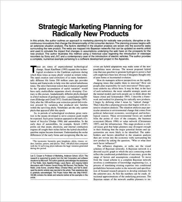 Sales and Marketing Plan Templates \u2013 19+ Free Word, Excel, PDF