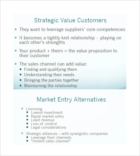 Sales and Marketing Plan Templates \u2013 19+ Free Word, Excel, PDF - marketing business plan template