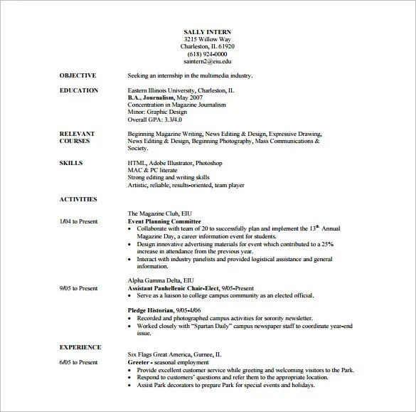 Photographer Resume Template \u2013 10+ Free Word, Excel, PDF Format