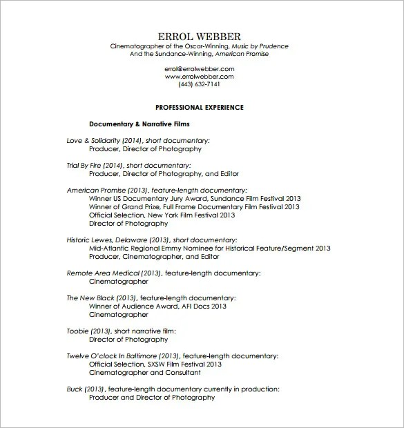 Photographer Resume Template \u2013 10+ Free Word, Excel, PDF Format - junior photographer resume