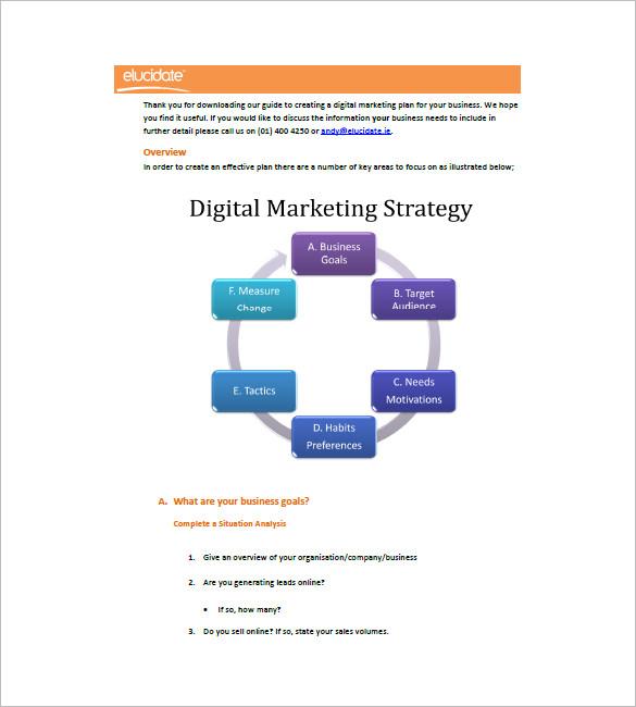 digital marketing plan pdf - Onwebioinnovate - digital marketing plan