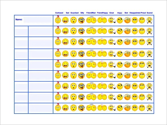Behavior Chart Template \u2013 12+ Free Sample, Example, Format Download