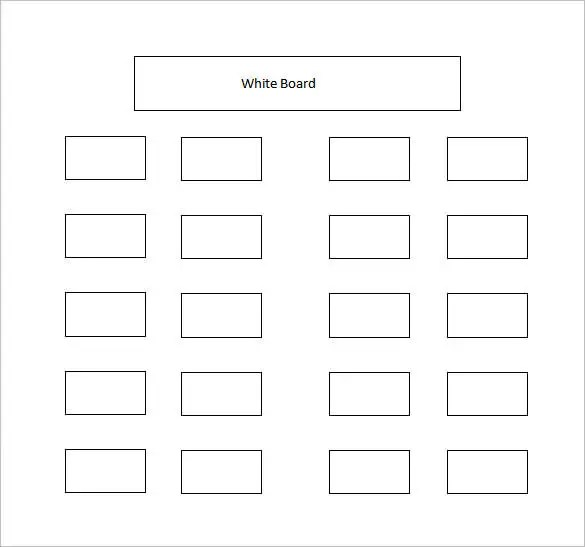 Classroom Seating Chart Template \u2013 10+ Free Sample, Example, Format