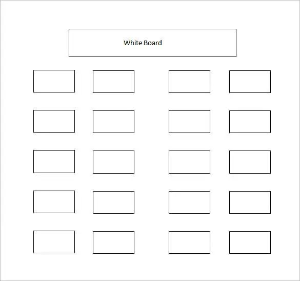 seating chart classroom template