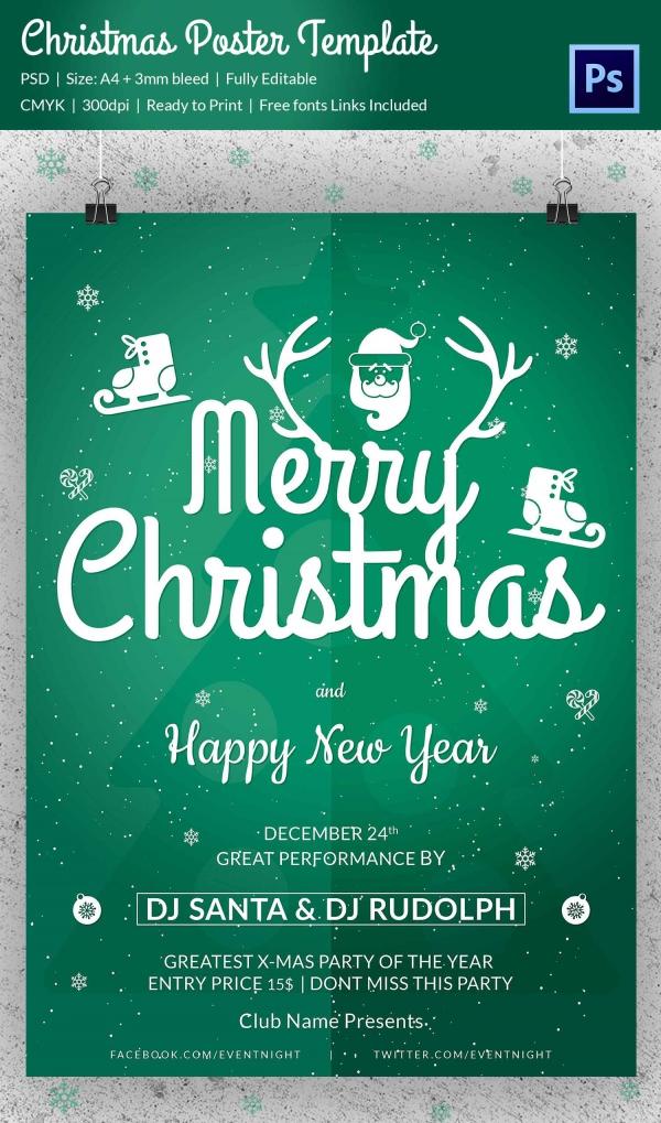 75+ Christmas Poster Templates - Free PSD, EPS, PNG, AI, Vector - editable poster templates