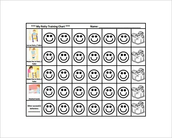 12+ Reward Chart Templates - DOC, PDF, Excel Free  Premium Templates - potty training chart