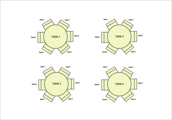 Circle Table Seating Diagram Wiring Schematic Diagram